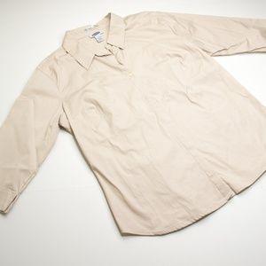 Old Navy Stretch Beige Button Down Shirt